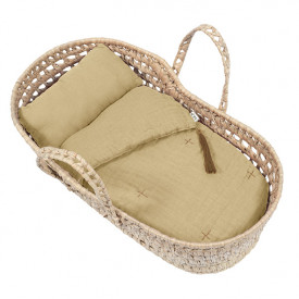 Doll Basket + Bed Linen - Mellow Yellow