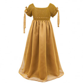 Salome Dress - 6-8 Y - Gold