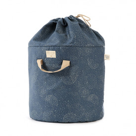 Bamboo Toy Bag - L - Bubble - Elements - Night Blue / Gold