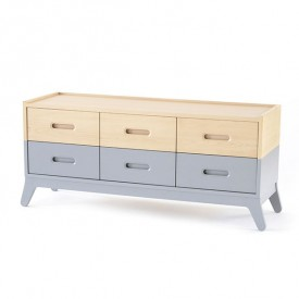 6-Drawer Dresser - Grey