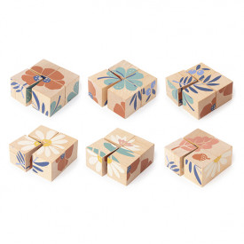 Plants Wooden Cubes