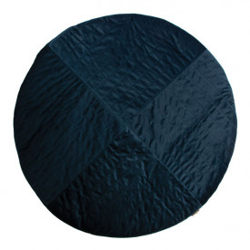 Kilimandjaro Round Velvet Carpet - Night Blue