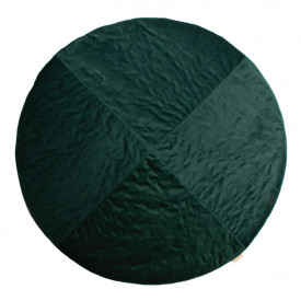 Kilimandjaro Round Velvet Carpet - Jungle Green