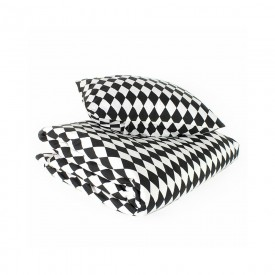 Baby bed linen - Toronto - Diamonds - Black