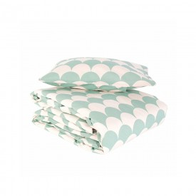 Baby bed linen - Toronto - Scales - Green
