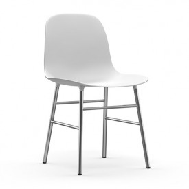 Form Chair - Chrome or Brass - Color to choose