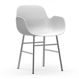 Form Armchair - Chrome or Brass - Color to choose