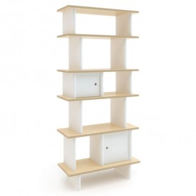 Vertical Mini Library - Birch