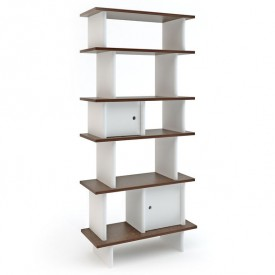 Vertical Mini Library - Walnut