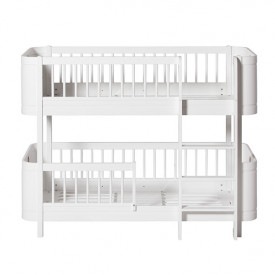 Mini+ Low Bunk Bed 68x162cm - White