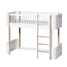 Wood Mini+ low loft bed (132 cm) - Oak - DISPLAY MODEL