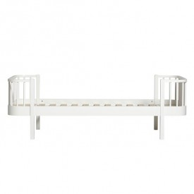 Wood Bed 90 x 200 cm - White