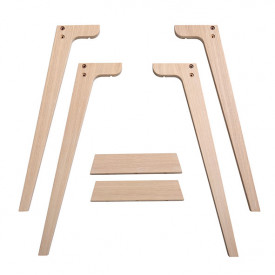 Extra Legs for Wood Desk - H. 72,6cm