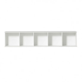 Wood Shelving Unit 5 x 1 - Wall Unit