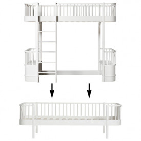 Wood Conversion Kit - Loft bed to day bed - White