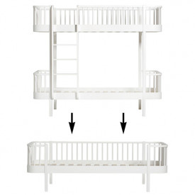 Wood Conversion Kit - Bunk bed to day bed - White