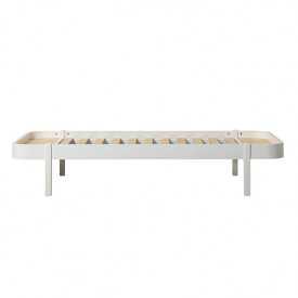 Wood Lounger 90x200cm - White