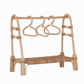 Doll Rattan Clothing Rail