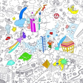 Giant Coloring Poster - Fantastic