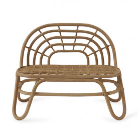 Rainbow Mini Rattan Bench