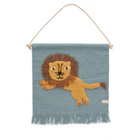 Wallhanger - Jumping Lion