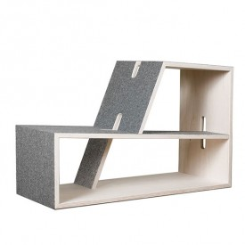 Pauli Bookcase Grey Perludi