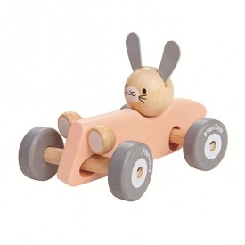 Rabbit Racing Car - Pink