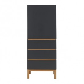 Indigo 1 door 3 drawers Wardrobe - Moonshadow