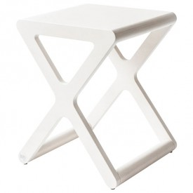 X Stool - White Wash