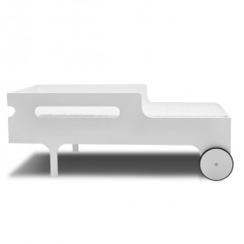 R Toddler Bed - White