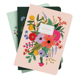 Set of 3 stitched notebooks - Garden Party