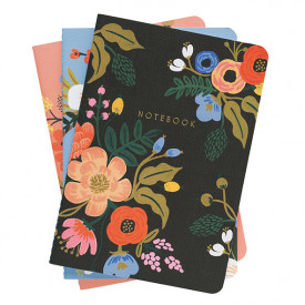 Set of 3 stitched notebooks - Lively Floral