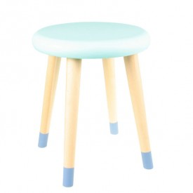Alice Stool - Blue / Electric Green
