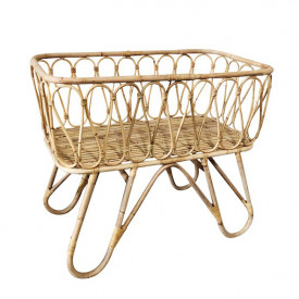 June Rattan Cradle w/ Canopy Stick