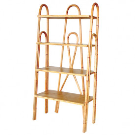 June Rattan Bookcase