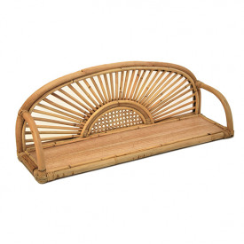 Flores Rattan & Cane Wall Shelf