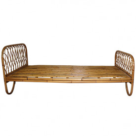 June Rattan Single Bed - 90 x 190 cm