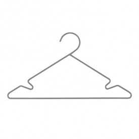 Set of 3 metal hangers - Grey