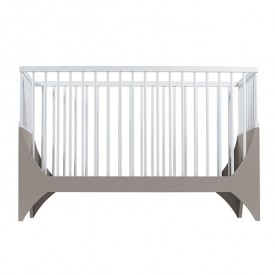 Yomi baby bed - Taupe / White