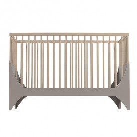 Yomi baby bed - Taupe / Beech