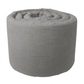 Quilted Baby Bumper - Grey
