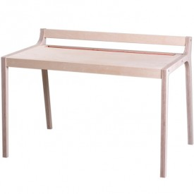 Wood and red felt Afra desk