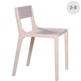 Wood and grey felt Sepp little chair