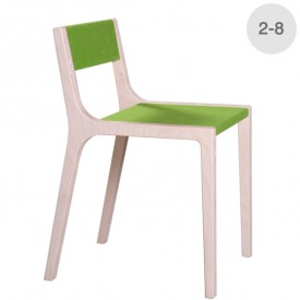 Wood and green felt Sepp little chair