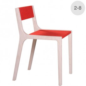 Wood and red felt Sepp little chair