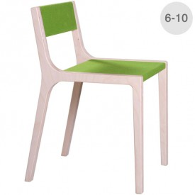 Wood and green felt Slawomir chair