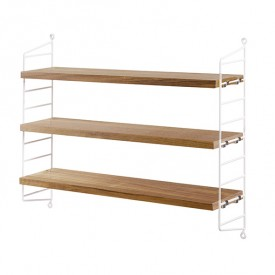 Pocket Shelf - Oak / White
