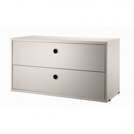 Chest w/ 2 Drawers 78 x 30 cm - Beige