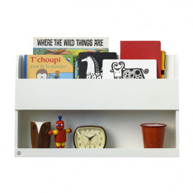 Bunk Bed Wall Shelf - White