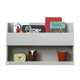 Bunk Bed Wall Shelf - Pale Grey
